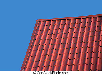 Roof of a country house with tile