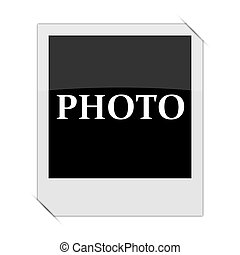 Photo icon within a photo on white background