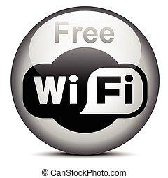 Wi-Fi logotype - ISTANBUL, TURKEY - JULY 08, 2015: Wi-Fi...