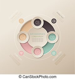 Step-by-step instruction. Infographics on a colored...