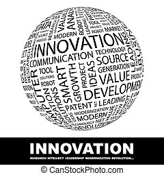 INNOVATION Word cloud concept illustration Wordcloud collage...