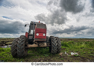 old Tractor rural Ireland Landscape