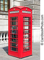 Telephone London - Traditional red telephone box in London
