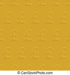 Pound sterling pattern - Pound sterling seamless pattern on...