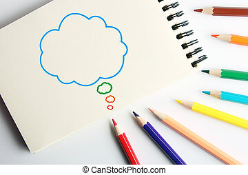 Cloud bubble - Business concept drawing on the paper with...