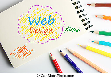 Web design - Business concept drawing on the paper with...