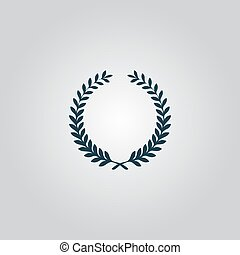 Victory laurel wreath - Victory laurel wreath. Flat web icon...