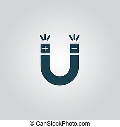Magnet Symbol - Simple Magnet Flat web icon or sign isolated...