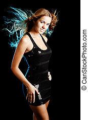 Fashion woman - Studio portrait of a young fashion woman...
