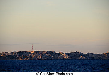 rocky coastline in marseille - beautiful rocky coastline to...