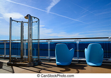 shower and chair on cruise ship - nice shower and chair on...