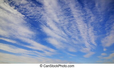 Thick clouds feather - Thick clouds fast feather floating in...