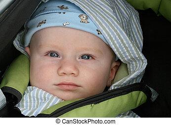 Portrait of a cute little baby boy.