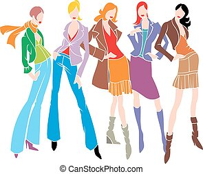 abstract fashion womans