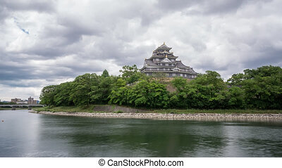 Time Lapse of Okayama Caste in Japan - Long exposure Time...