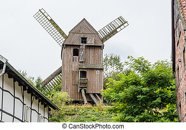 Dutch windmill - The windmill of Dutch design behind a...