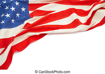 Studio shot of USA flag with place for your text - Studio...