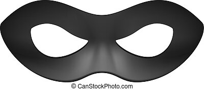 Eye mask in black design on white background