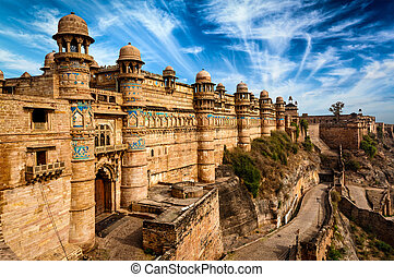 Gwalior fort - Indian famous landmark example of Mughal...
