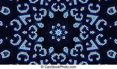 Fantasy Kaleidoscopic Computer Screen Digital Background,...