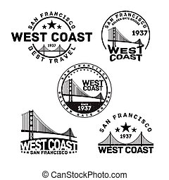 San Francisco Logo Stamp - Vector illustration of San...