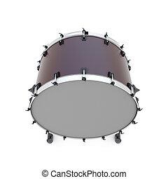 percussão, instrumento, tambor, baixo, isolado
