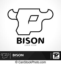 Bison logo - Bison symbol icon design. Logo template. Vector...