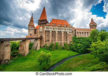 Corvin castle in Romania - Beautiful view on Corvin castle...