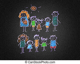 Happy family - The social protection of the family Kids...