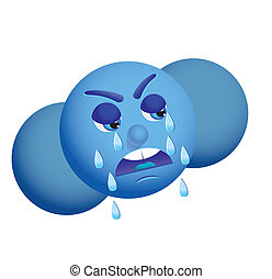 crying cloud - Use this crying cloud as weather icon,...