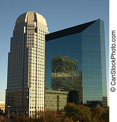 Winston salem offices - Two tall Winston Salem office...