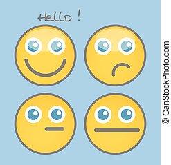Dumb Cartoon Smiley Set