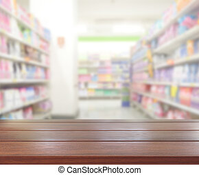 Abstract Blur Shopping Market Background - Abstract Blur...