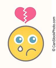 Hurt - Cartoon Smiley Vector Face