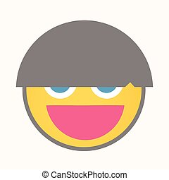 Funky Hairstyle - Cartoon Smiley