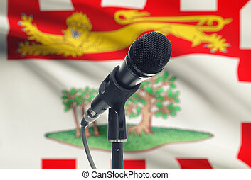 Microphone on stand with Can