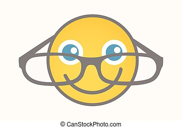 Eyewear - Cartoon Smiley Vector - Eyewear - Cartoon Smiley...