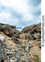 Shete Boka National park -Views around Curacao Caribbean...