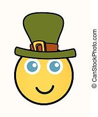 Leprechaun - Cartoon Smiley Vector
