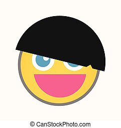 Cool Hairstyle - Cartoon Smiley