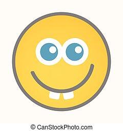 Goofy - Cartoon Smiley Vector Face