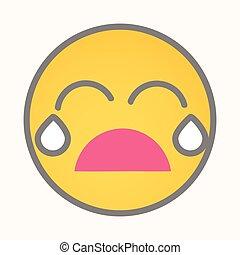 Crying - Cartoon Smiley Vector Face