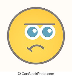 Dejection - Cartoon Smiley Vector - Dejection - Cartoon...