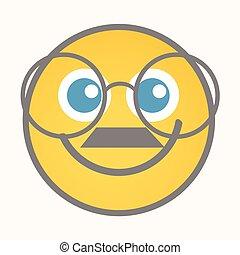 Bookworm - Cartoon Smiley Vector - Bookworm - Cartoon Smiley...