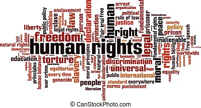 Human rights Convertedeps - Human rights word cloud concept...