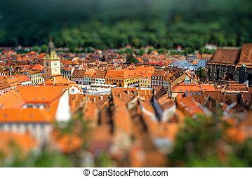 Brasov cityscape in Romania - Beautiful Brasov cityscape top...