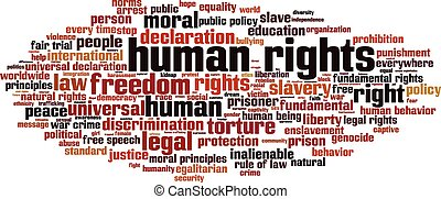 Human rights-horizon Convertedeps - Human rights word cloud...