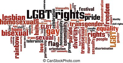 LGBT rights [Converted].eps - LGBT rights word cloud...