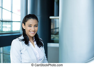 Smart young professional women - Closeup portrait, young...