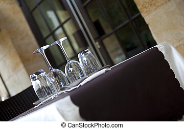 Bistro - Table set in a stylish French bistro